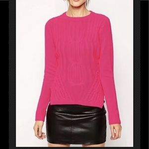 Ted Baker Daisuma Neon pink cable sweater size 3